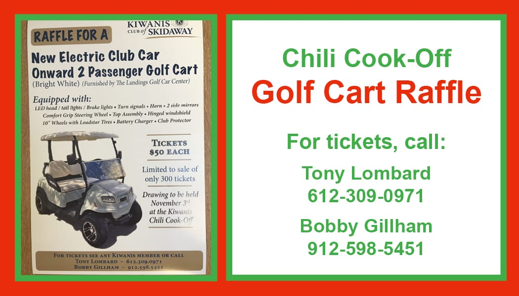 New Electric Club Car Golf Cart Raffle