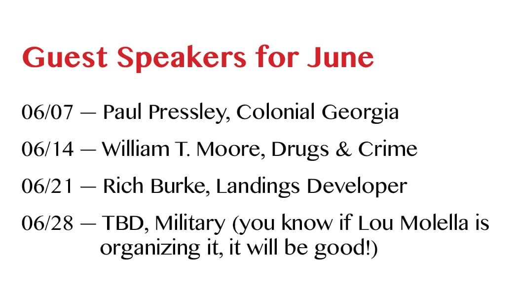 Guest Speakers for June