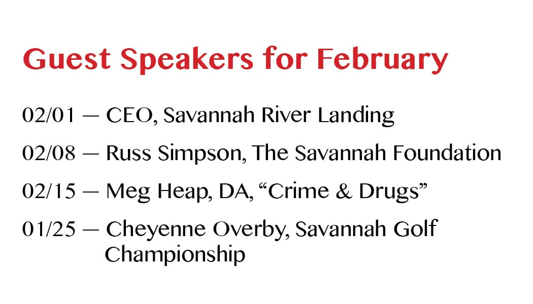 Guest Speakers for February
