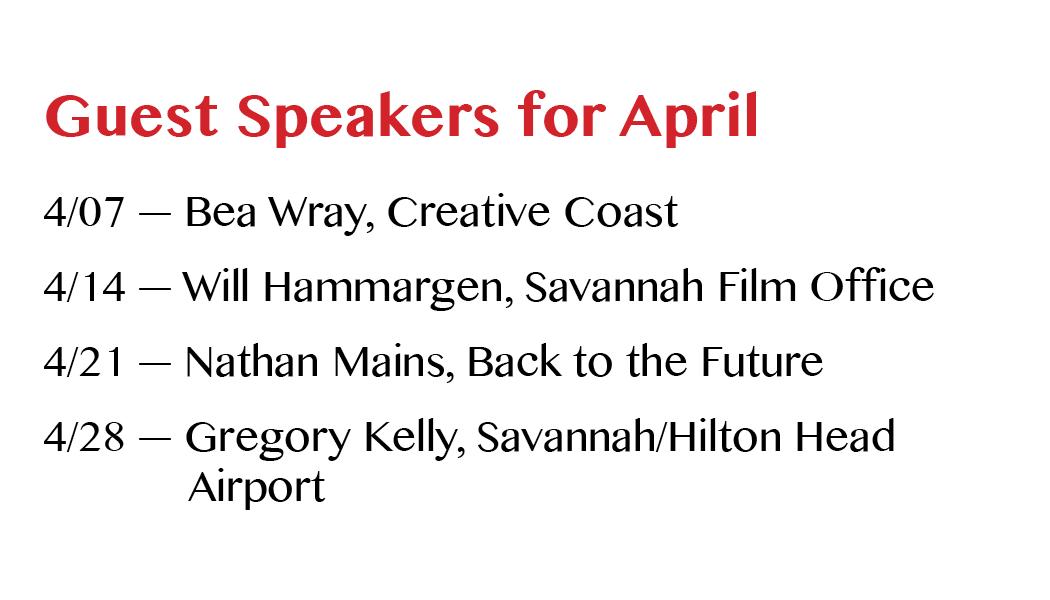 April 2016 Guest Speakers