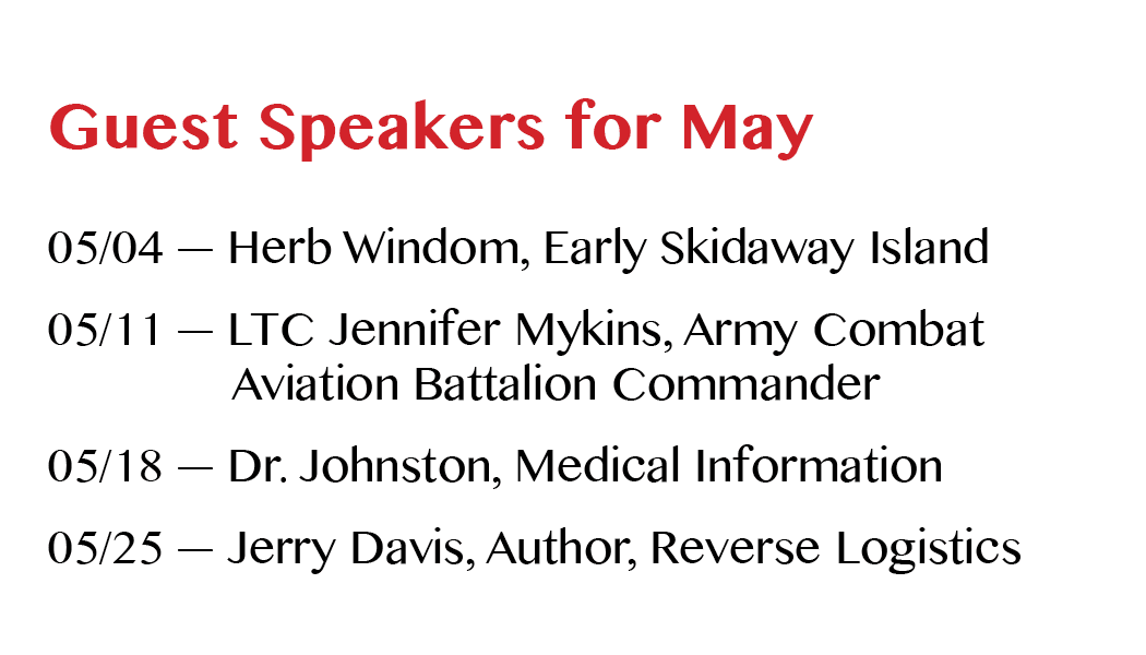Breakfast Meeting Speakers—May