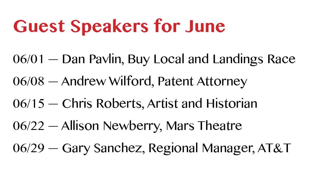 Breakfast Meeting Speakers for June